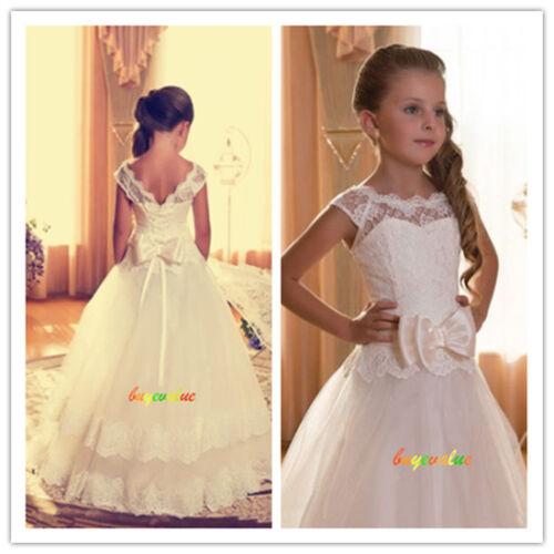 d48e70039 Age 2-14 Girls Party Bridesmaid Wedding Flower girl Dress tutu dress ...