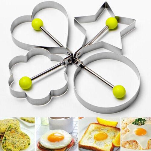 Kochen Küche Werkzeuge Edelstahl Omelette Ring Pizza SchimmeV6