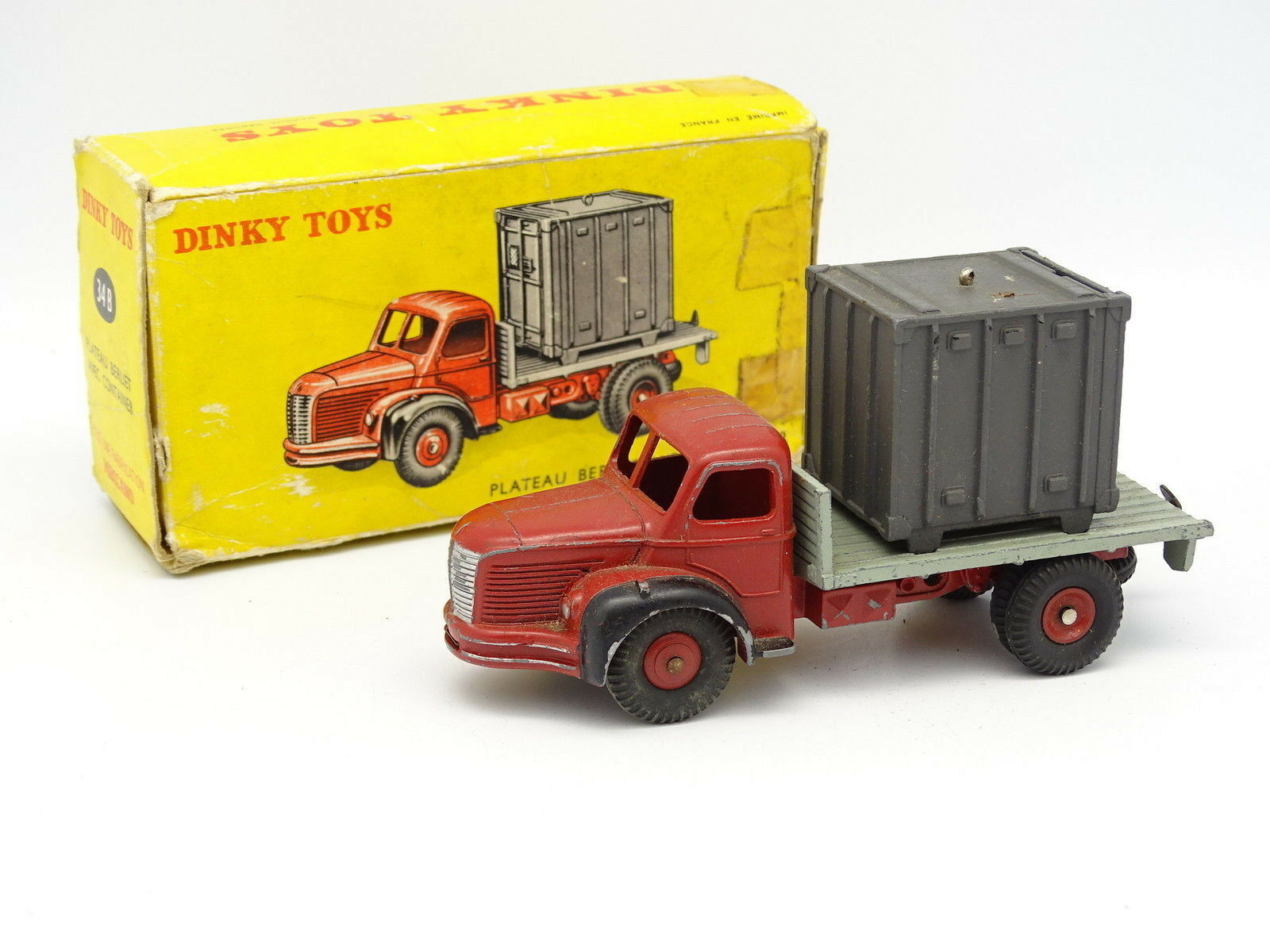 Dinky Toys F SB 1 43 - Berliet Plateau Container 34B