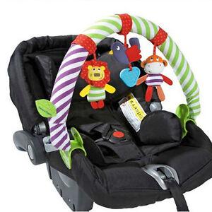 Cute Animal Baby Stroller Car Seat Crib Hanger Clip Take Along Travel Toy Arch