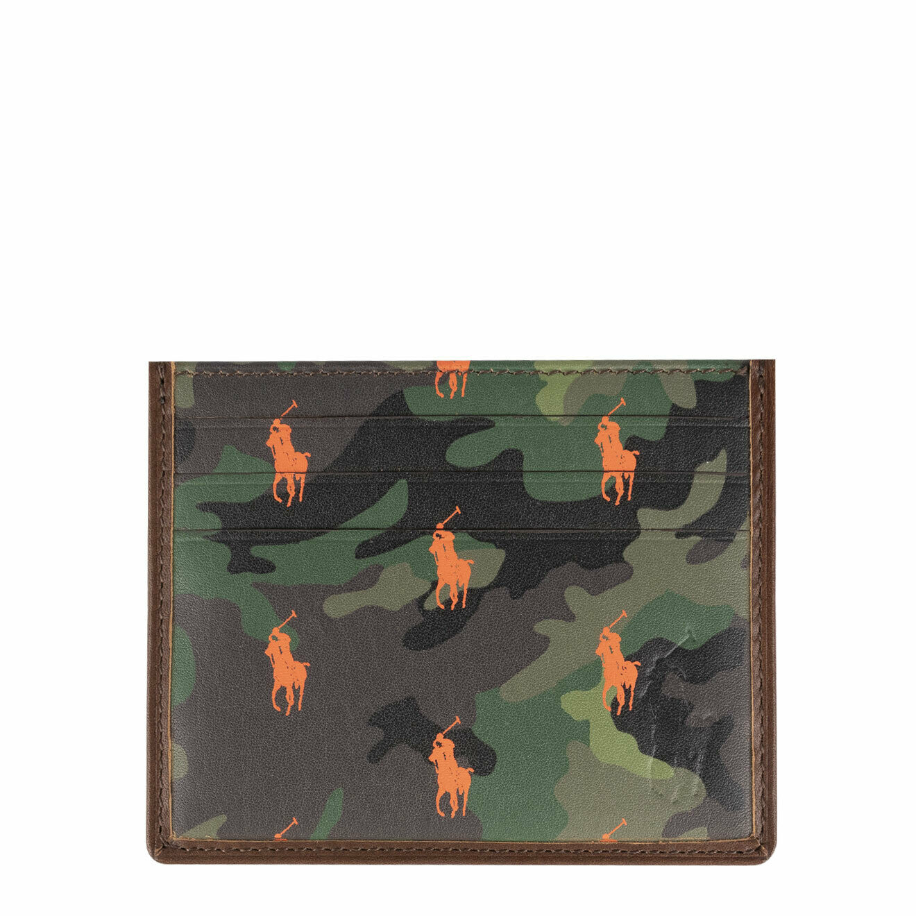 Polo Ralph Lauren Small Leather PP Card Case Camo / Brown - SALE!!