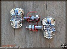 [Pares X2] Skull Face Flashers Skull Chrome - triciclo motocicleta personalizada