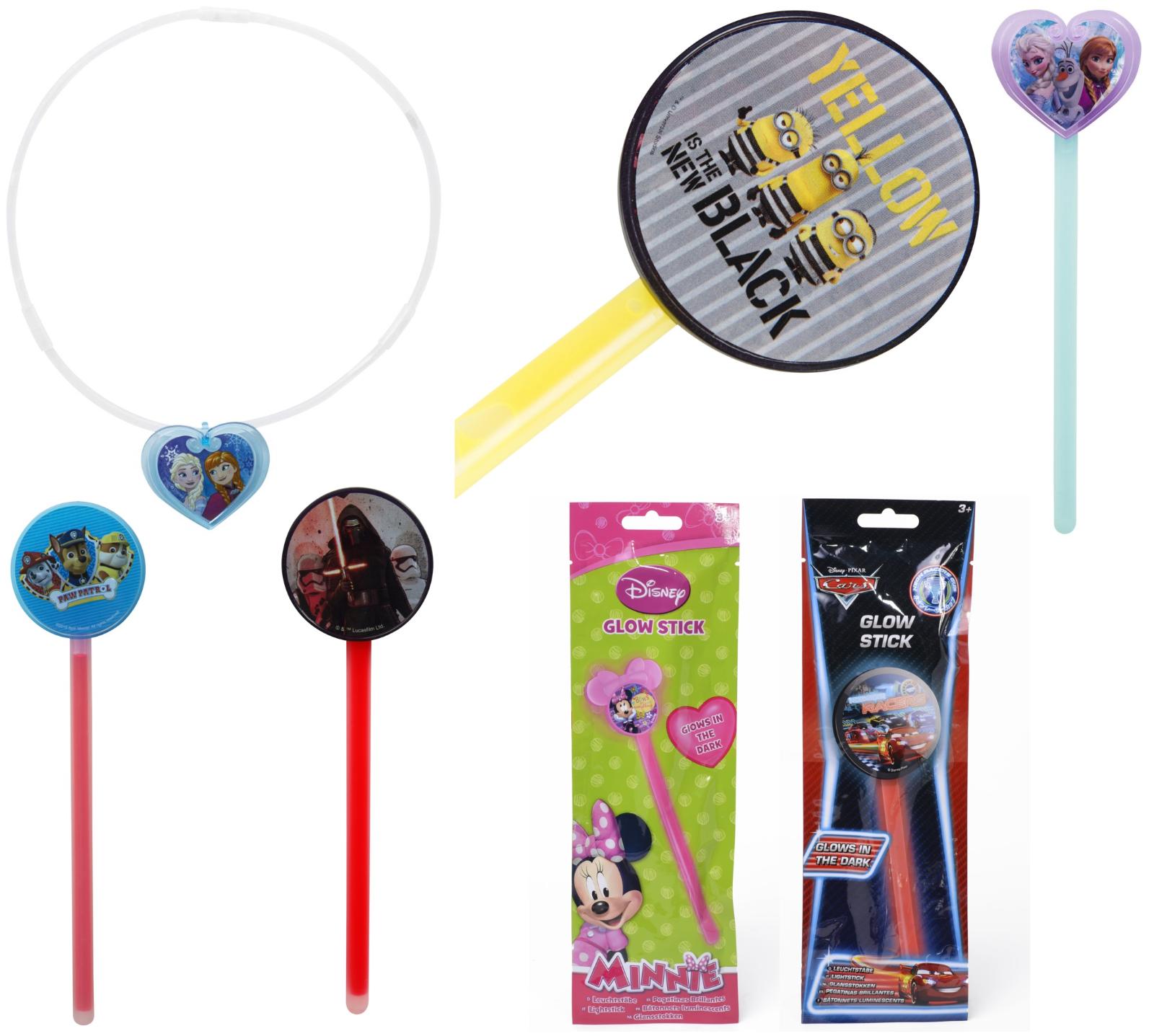 Paw Patrol Kids Glow Sticks Sticks Sticks STARWARS, Minion, voitures, congelés Glow Collier Camping 463c59