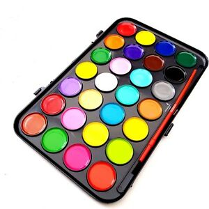 21 watercolour paint set with brush in case painting water colour