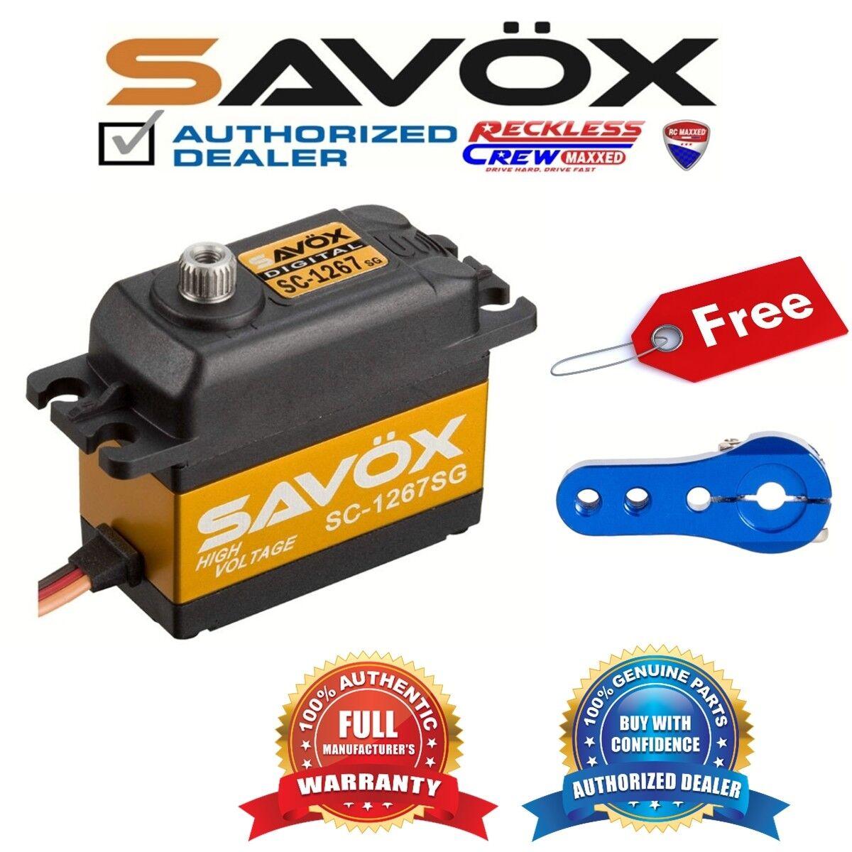 Savox SC-1267SG alto esfuerzo de torsión Digital Servo + Gratis Aluminio Servo Horn Azul