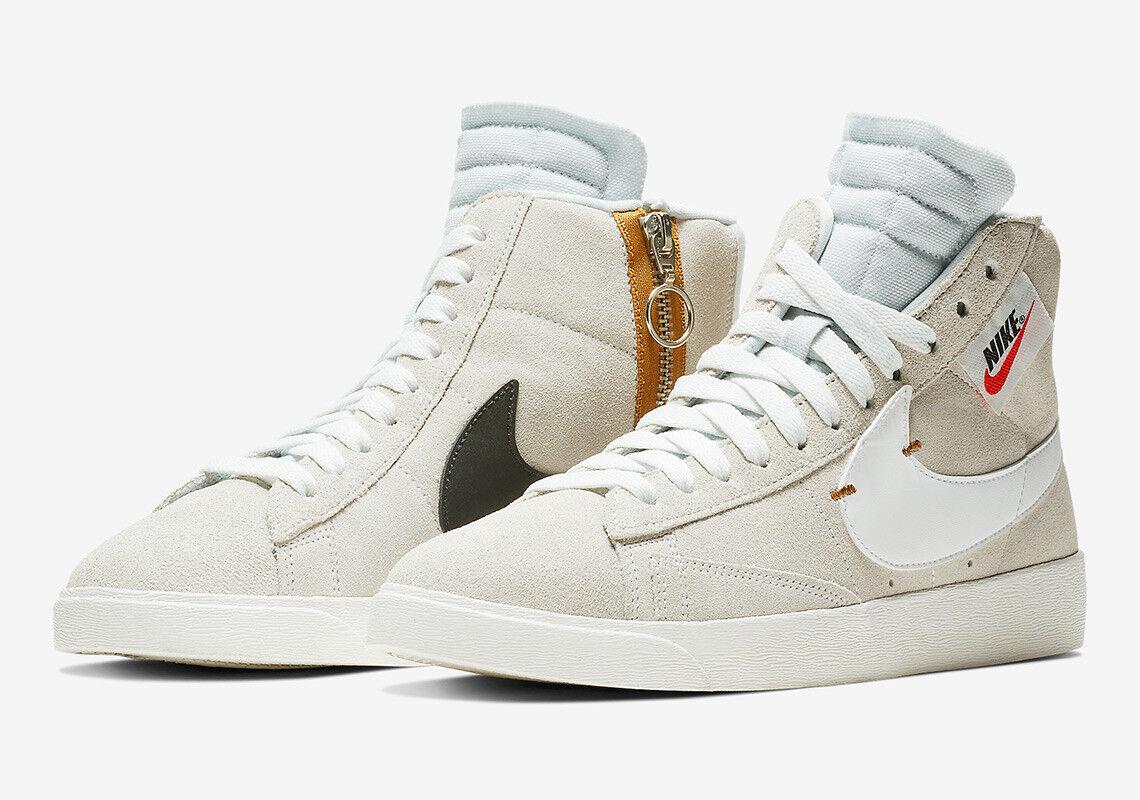 Nike WOMEN'S Blazer Mid Rebel Off White Summit White SIZE 9.5 BRAND NEW