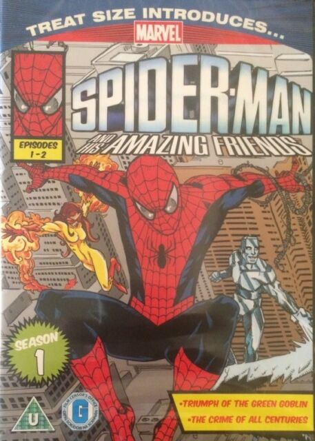 4 DVD Set Marvel Spiderman and His Friends Season 1 EP 1-8