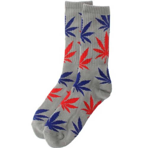 grey // red // blue $12.00 HUFAC33005GRB-1S HUF Plantlife Crew Socks