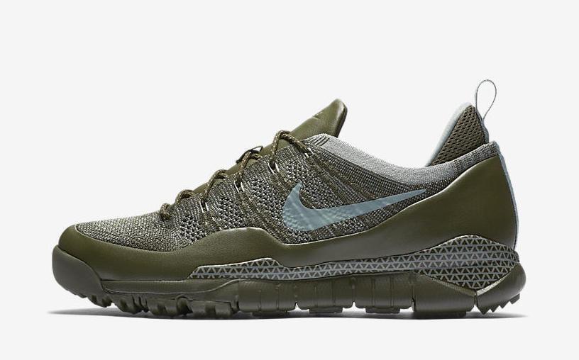 Nike männer lupinek niedrigen flyknit niedrigen lupinek fracht khaki / glimmer grün größe 9,5 neu 8939dd