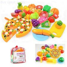 Kitchen Toys Fun Cut Fruits Vegetables Pretend Food Playset Kids Girls Boys Set