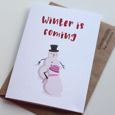 #415 CHRISTMAS CARD Rude Greeting Card funny humour joke Game of Thrones Xmas