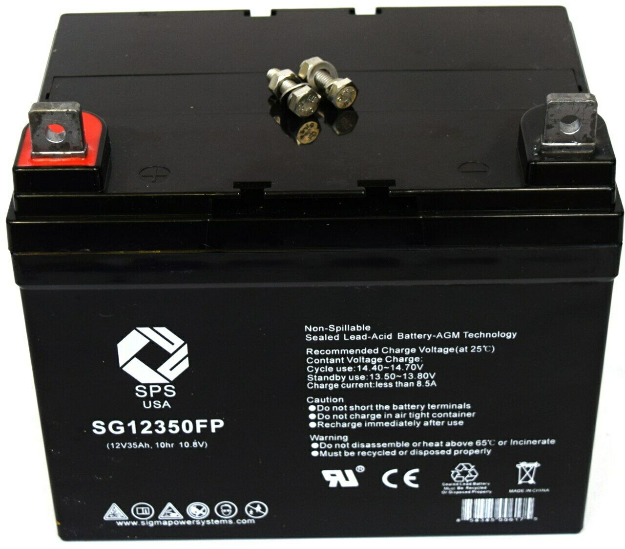 SPS Brand 12V 35Ah battery for Shoprider Mobility 888 4 wheelchair scooter