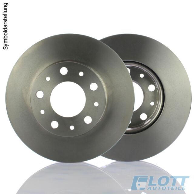 2x KRAFT AUTOMOTIVE Bremsscheibe 6048550 für CHRYSLER