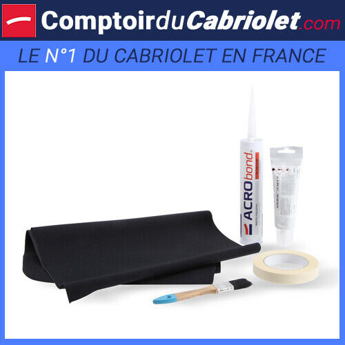 Kit pour réparation de capote vinyle ou pvc de couleur noire