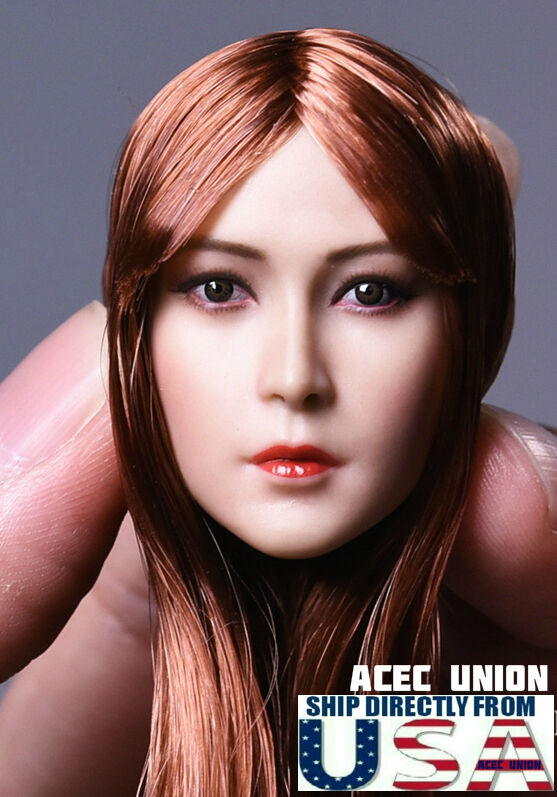 1 6 Asian Beauty Female Head Sculpt B For Hot Toys Phicen Figure U.S.A. SELLER