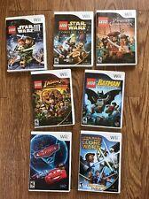 Wii Lot LEGO STAR WARS III VIDEO GAME Batman Indiana Jones Cars 2 Clone Vintage
