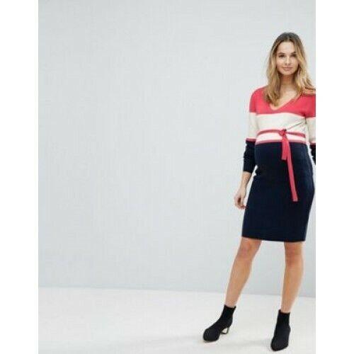 gloednieuw Block jurk Maternity Uk Medium Mamalicious Color Gebreide qPBxwvH0