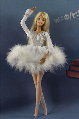 Lovely Black White Ballet Skirt tutu Dress outfit clothes For 11.5in.Doll
