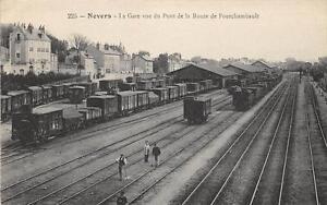 CPA-58-NEVERS-LA-GARE-VUE-DU-PONT-DE-LA-ROUTE-DE-FOURCHAMBAULT-cliche-pas-coura