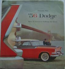 Dodge Coronet Royal Custom Royal 1956 Original Chrysler Large USA Brochure