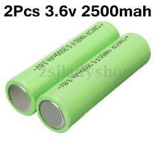 2pcs 3.6V 2500mah Li-ion Rechargeable Battery 18650 Universal For Flashlight