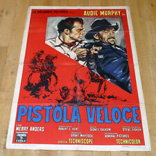 PISTOLA VELOCE manifesto poster The Quick Gun Audie Murphy Anders Western  G7