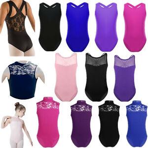 Toddler-Kids-Girls-Gymnastics-Leotard-Ballet-Dance-Dress-Lace-Dancewear-SZ-3-14Y