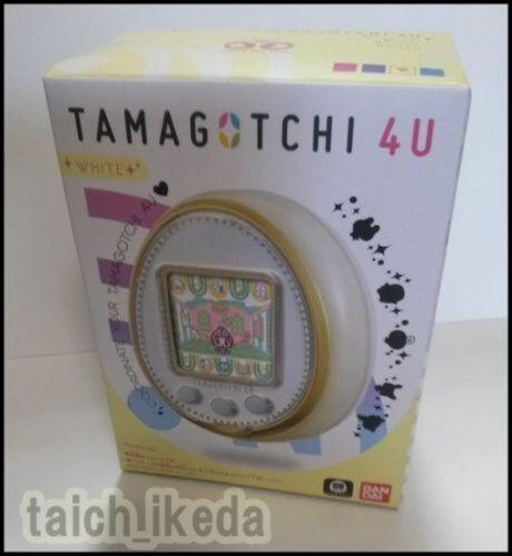 NEW Bandai TamaGotchi 4U White Purple Blue Pink Japan