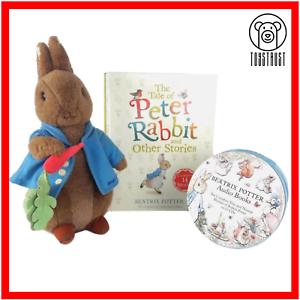 The-Peter-Rabbit-Beatrix-Potter-Audiobook-Soft-Toy-Plush-Story-Book-Bundle-Lot