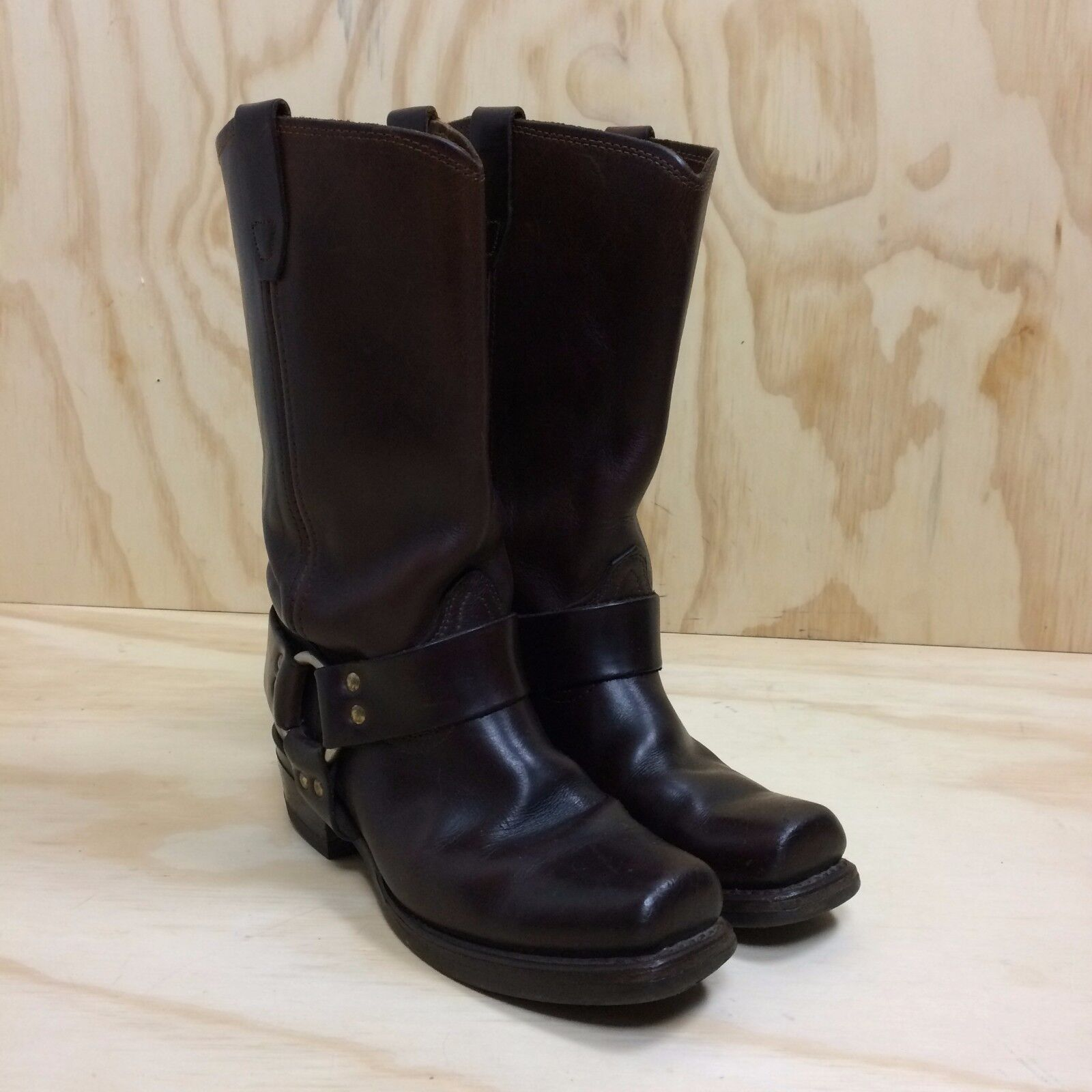 Durango Harness Motorcycle Engineer Brown Leather Boots Square Toe Men's 7.5M