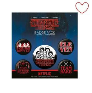 Official Stranger Things Badge Pack Character Badges Pack of 5