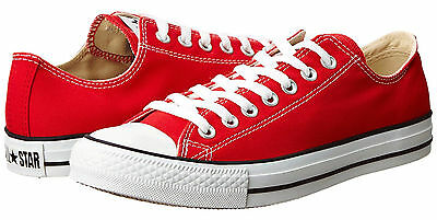Converse Chuck Taylor All Star Low Tops Red OX Mens Sneakers Tennis Shoes M9696