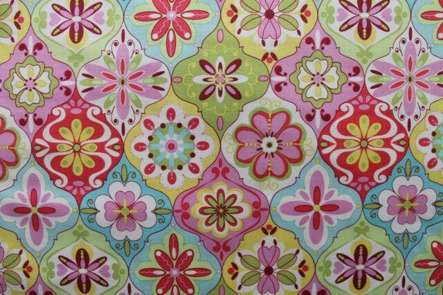 "Riley Blake "" Splendor "" bunte Blumenornamente - Blumen - Baumwollstoff"