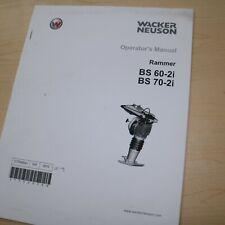 Wacker Bs 70 60 2i Vibratory Rammer Owner Operator Manual Book Jumping Jack