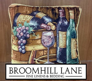 Brand-New-Vintage-Restaurant-Wine-Classic-18-034-Square-Tapestry-Cushion-Cover