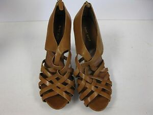NINE-WEST-034-o-everx5-034-Zip-Cage-High-Heels-Strappy-9-5-slip-on-shoes