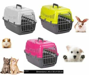 Image Is Loading Plastic Pet Carrier For Cat Dog Puppy Rabbit