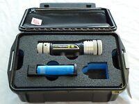 Underwater Kinetics Aqualite Video Uv-395 Ultra Violet Light Kit & Case W/ Foam