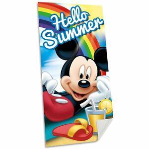Mickey-Mouse-Serviette-de-Plage-100-Coton-Enfants-Multi-Grand