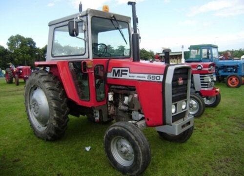 Massey Ferguson 550 565 575 590  Tractor Workshop Manuals 500 Series