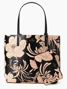 TEST-Kate-Spade-Mya-Reversible-Leather-Tote-Pouch-Gardenia-Black-WKRU5700
