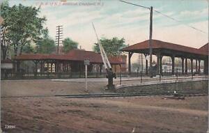 Postcard-Railroad-Depot-CRR-of-NJ-Stations-Cranford-NJ