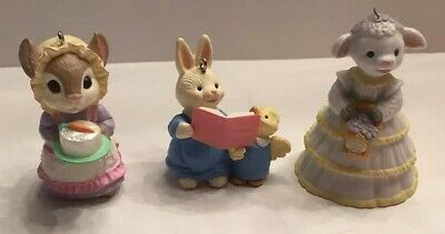 RARE NEW 1994 HALLMARK DIVINE DUET BUNNY READS TO DUCKLING EASTER COLLECTION