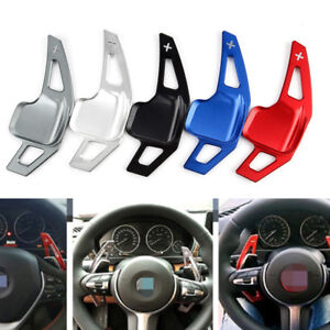 2Pcs Steering Wheel Shift Paddle Blade Shifter Extension For BMW 3 5 Series RT !