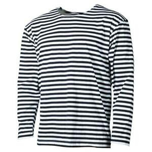 RUSSIAN-MARINE-NAVAL-WINTER-FLANNELETTE-LONG-SLEEVE-NAVY-STRIPED-SAILOR-T-SHIRT