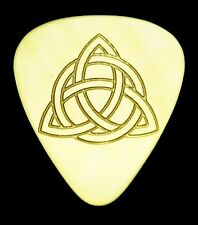 CELTIC KNOT- TRIQUETRA - Solid Brass Guitar Pick, Acoustic, Electric, Bass
