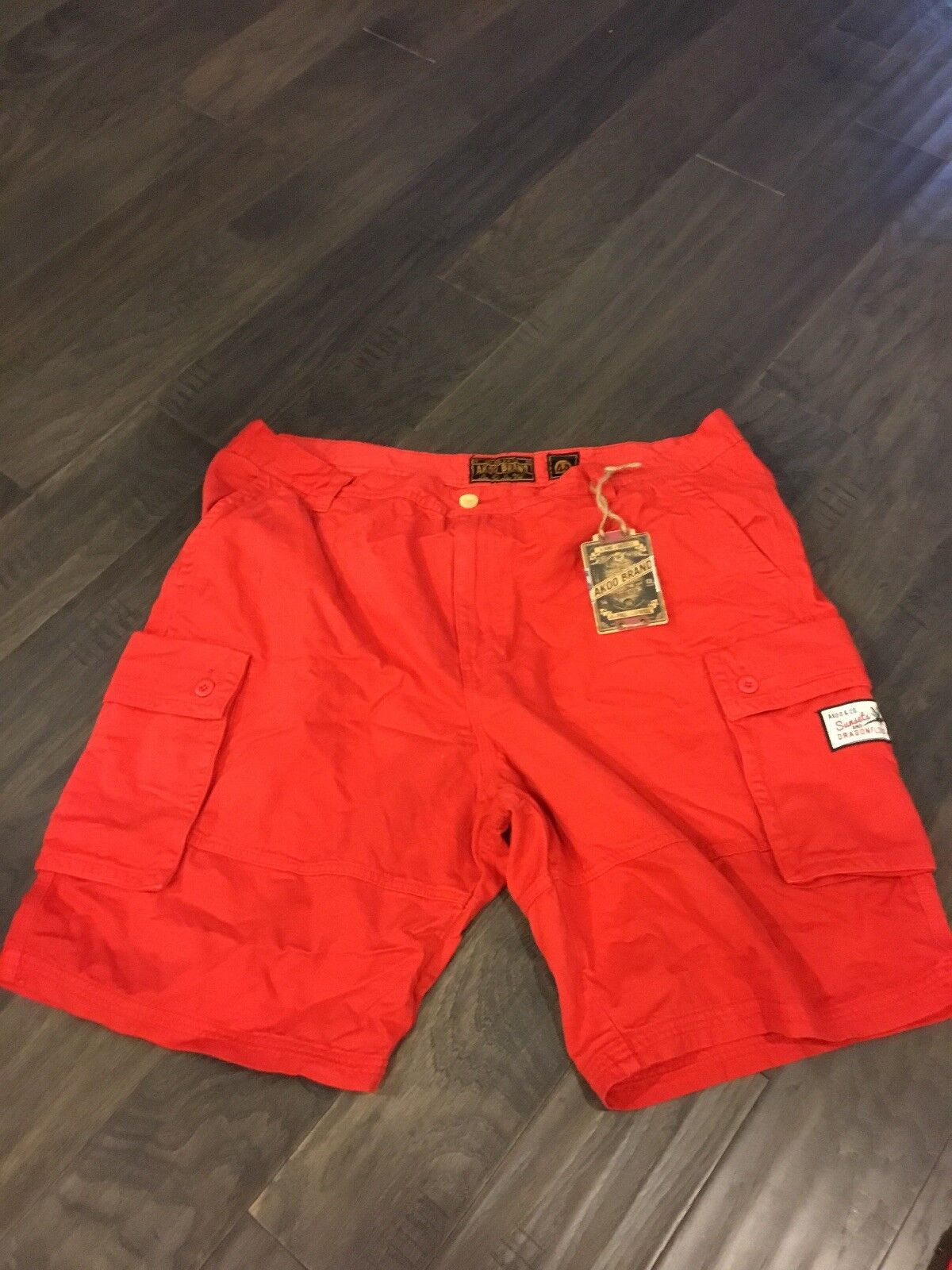 Akoo Brand Men's Shorts Pants New Size 38 Dragonfly Getaway Formula One Cargo Rd