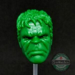 ML318-Incredible-Hulk-Bruce-Banner-Custom-Cast-head-use-w-6-034-Marvel-Legends