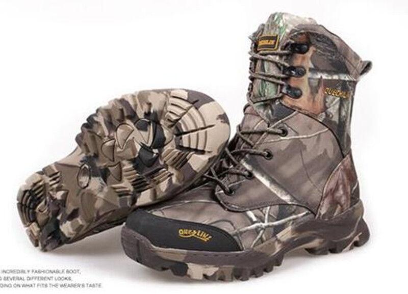Outdoor Winter hommes Bionic Feuilles Camouflage Chasse bottes Chaudes bottes Tactiques