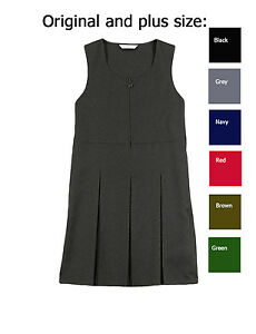 GIRLS-SCHOOL-PINAFORE-DRESSES-EX-CHAINSTORE-IN-MANY-COLOURS-ALL-SIZES